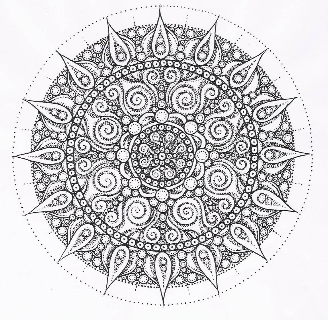 free coloring pages of mandalas - photo#28